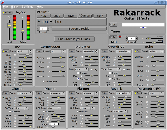 rakarrak the linux guitar effects processor alberto ruibal. Black Bedroom Furniture Sets. Home Design Ideas